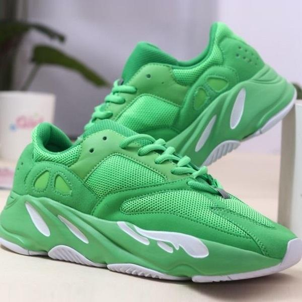 Image of Adidas Yeezy Boost 700 Men's and Women's Sneakers Shoes Green