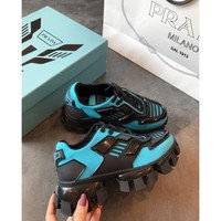Prada Cloudbust Thunder Blud/ Black Sneakers - Best Online Sale
