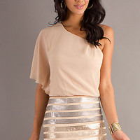 One Shoulder Short Sequin Dress by As U Wish