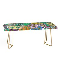 Rosie Brown Painted Paisley Green Bench