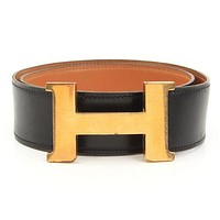 AUTHENTIC HERMES CONSTANCE 42 H BELT BLACK GRADE B USED-AT