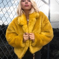 Look What You Made Me Do Faux Fur Coat