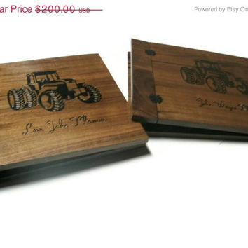 Boss Away SALE Wood Scrapbooks Set of Two Customized - 12x12 -Woodburnt With Your Design