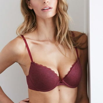 Lace-Trimmed Push-Up Bra