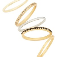 Madewell Set of 5 Filament Stackable Rings   Nordstrom