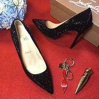 Cl Christian Louboutin 100mm Patent Leather High Heels W10-1
