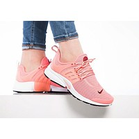 """NIKE""Air Presto Women Men Fashion Running Sport Casual Shoes Sneakers Pink-small wine red hook F"
