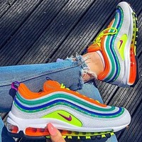 Nike Air Max 97 Fashion Flats Skate Sport shoes Sneakers