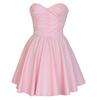 Pastel Pink Prom Party Dress