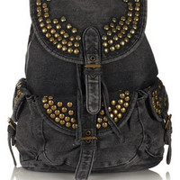 Studded Denim Backpack - Backpacks - Bags & Wallets  - Accessories