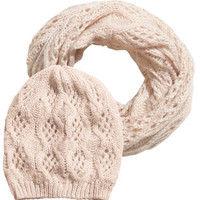 Set Hat + Tube Scarf - from H&M