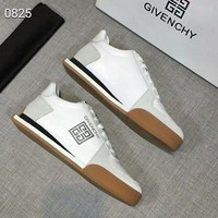 Givenchy autumn and winter new men's casual wild trend tie men's shoes white