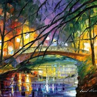 """Afremov ENIGMATIC FREE SHIPPING STRETCHED PRINT 16""""x20"""" DIRECTLY FROM THE ARTIST"""