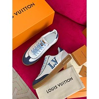 Louis Vuitton Lv Women Frontrow Sneaker Bleu Jeans