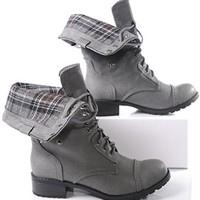 Marco Republic Expedition Womens Military Combat Boots - (Dark Brown) - 8.5