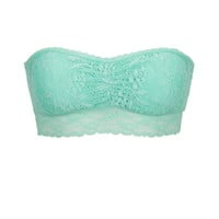 Lace Tube Bralette - Mint Creme