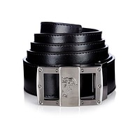 Versace Collection Men's Glossy Leather Medusa Belt