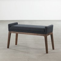 'Trident' Bench in Walnut - Seating
