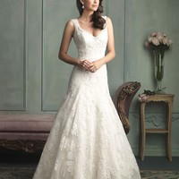 Allure Bridals 9125 Fit & Flare Lace Wedding Dress