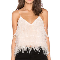 Tiny Dancer Feather Cami in Blush
