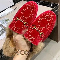 Gucci The latest plush slippers Shoes