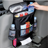 Car Covers Seat Organizer Insulated Food Storage Mesh Net Bag Container Basket Stowing Tidying Bags Car Styling Holder Pocket
