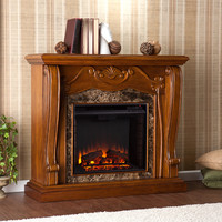 Cardona Electric Fireplace, Walnut