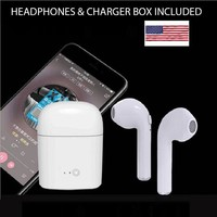 Bluetooth Earbuds Wireless Headphones for Apple Airpods iPhone with Charger box