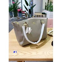 Coach's fashionable new single-shoulder bag in pure color is a hot seller of casual ladies' shopping bag #1