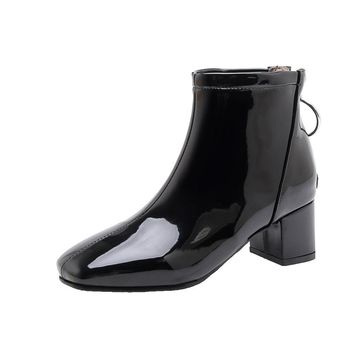 Women's Patent Leather Ankle Boots