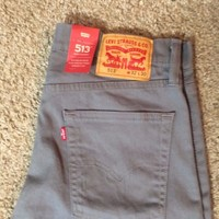 NWT Levis 513 Slim Straight Gray Jeans MSRP$69.50 Grey Jeans With Stretch (0338)