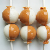Pumpkin cheesecake lollipops - 6 pc - MADE TO ORDER