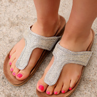 The Finer Things Sandal - Light Grey