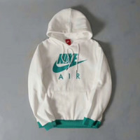 """NIKE"" Women Fashion Print Hoodie Top Sweater Sweatshirt Coat White"
