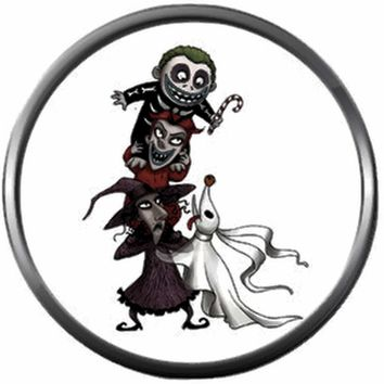 Zero Lock Shock And Barrel Nightmare Before Christmas Jack Skellington 18MM - 20MM Snap Jewelry Charm