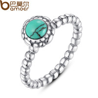 Birthday Blooms Ring, December, Turquoise Ring 100% Fine 925 Sterling Silver Compatible with Pandora Jewelry A7162