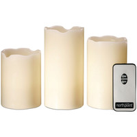 NORTHPOINT GM8236 3-Piece LED Flicker Candle Set