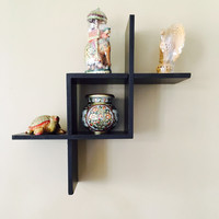 Aakashi Chocolate Brown Criss Cross Shelf