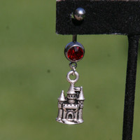 Just 4 Fun Collection Castle Mickey Mouse House Charm DeSIGNeR Belly Button Ring Simple Cute Disney Inspired Disneyland Magic Kingdom
