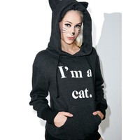 Guess What I Am Cuddles Cat Hoodie
