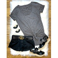 Charcoal Caged Tee