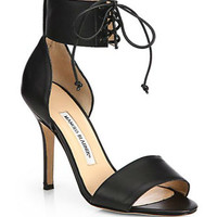 Olli Leather Ankle-Tie Sandals