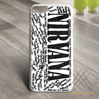 Nirvana all member and song titles collage Custom case for iPhone, iPod and iPad
