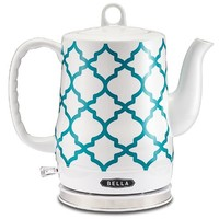 Bella Housewares | Electric Ceramic Kettle, Spanish Tile in Tea Kettles and Coffee and Tea and kitchen appliances, colorful appliances, toasters, juicers, blenders