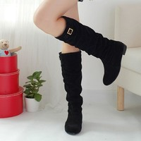 Winter Autumn women boots For Women Boots Genuine Suede Boots  Rubber Soles Russion women shoes Fashion