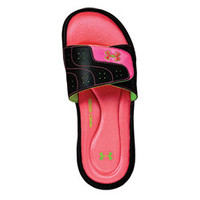 UA Women's Neon Pink Ignite Slides from GK Elite