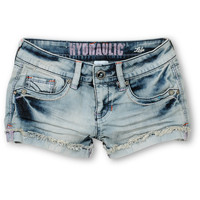 Hydraulic Tara Light Wash Denim Shorts