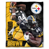 Pittsburgh Steelers NFL Antonio Brown Silk Touch Throw (50in x 60in)