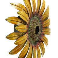"""Realistic And Captivating Sunflower Bird House 16""""D"""