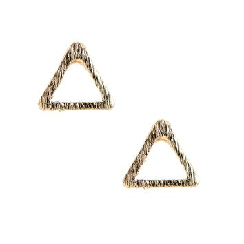 Handmade Brushed Metal Teeny Weeny Triangle Earrings